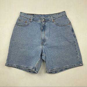 Vintage Levi's 550 High Waist Wedgie Jean Shorts